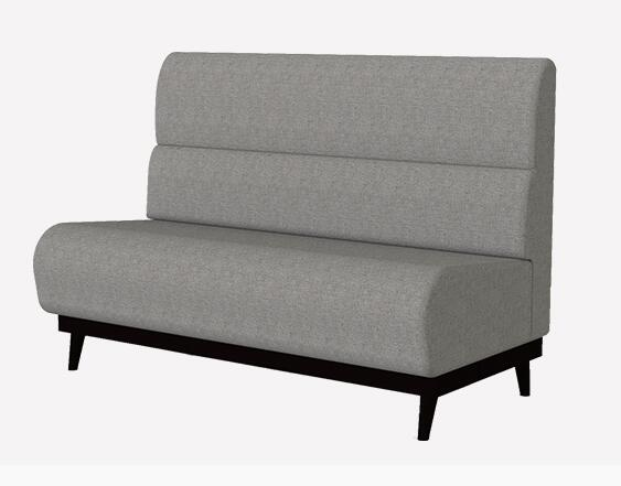 Lfsb 009 Restaurant Setting Sofa Bench By Wooden Legs With Fabric Upholstery
