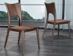 LFW-024 Walnut Wooden Dining chair Italy fashion design