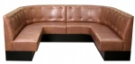 LFSB-005 Leather Upholstered Banquet Seating Long Bench