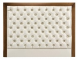 UH-012 DEEPBUTTON HEADBOARD Wood Frame with Leather Padded Hotel Bed