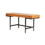 White ash wood legs Hotel room Table Orange painting drawers