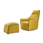 LFU-013 Fabric upholstery Leisure Chair for Living room furniture with Footstool