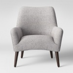 Hixon Shaped Back grey fabric upholstered chairs for Reception seating sofas furniture