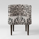 Upholstered Accent Chairs Curved wood Back with Light fabric cushion leisure chairs